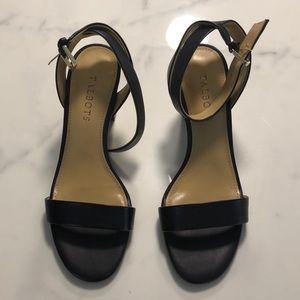 🌞🌞🌞 Indigo Blue leather heels